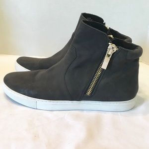 Kenneth Cole Keenan Leather High Tops Gray 9.5